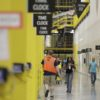 General scenes at the Amazon Fulfillment center in Robbinsville Township, N.J., Wednesday, Aug. 2, 2017. Amazon held a nation-wide job fair at its warehouses on Aug. 2. (AP Photo/Julio Cortez)